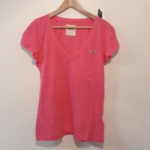 Hollister New Pink Tee Size L
